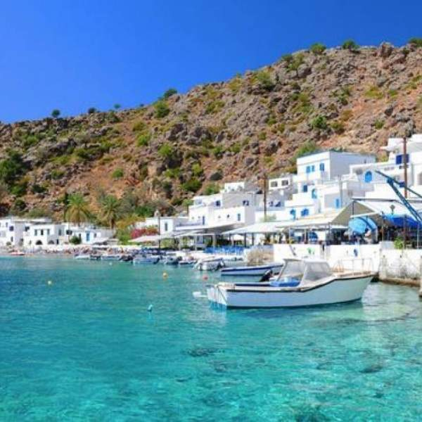 Welcome to the port of Loutro