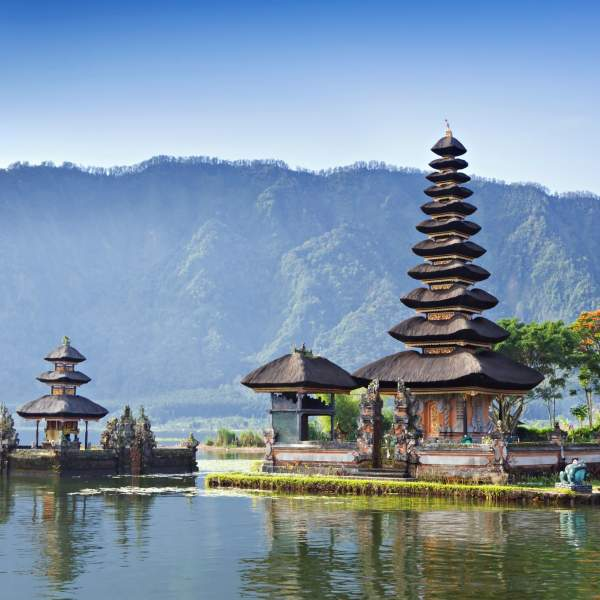 The Ulun Danu temple, one of the symbols of Bali