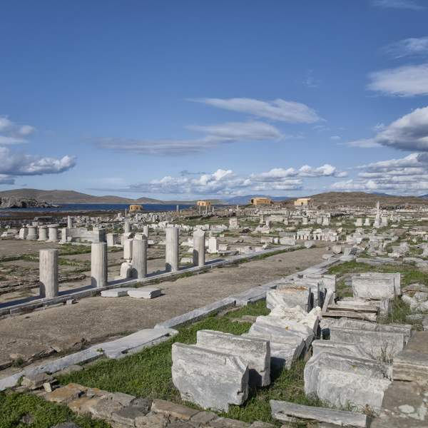 Visit Delos and its archaeological site