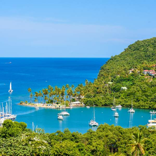 Marigot Bay, an exceptional anchorage in St. Lucia