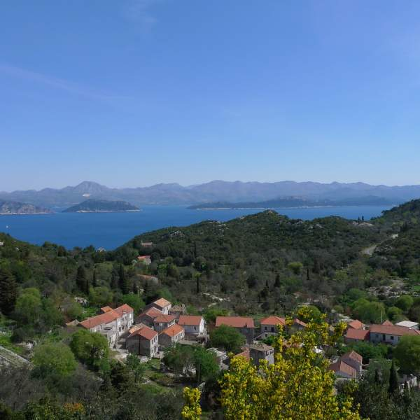 Mljet National Park and its saltwater lakes