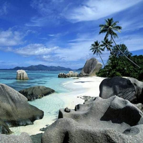 Beach at La Digue - a true paradise on earth