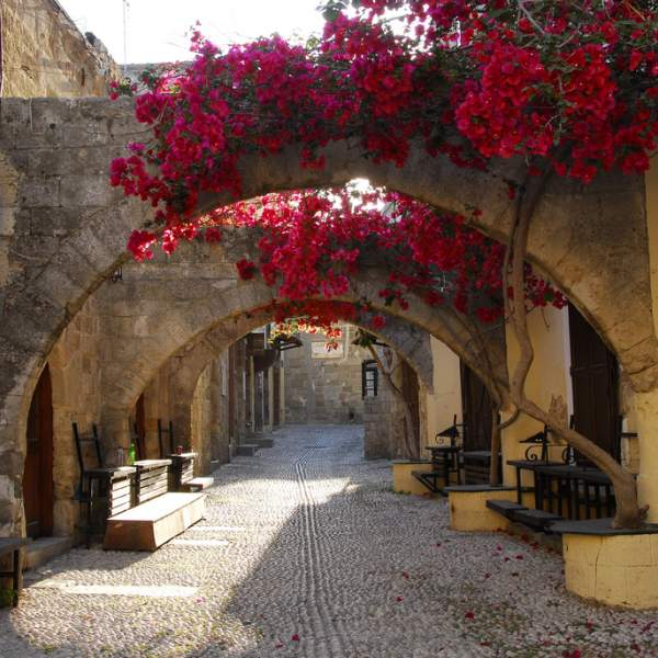 The streets of Rhodes