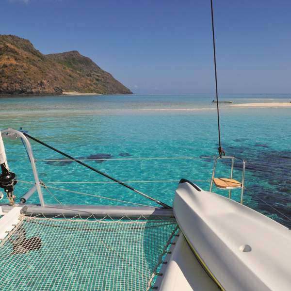 Make the most of the Catamaran nets for relaxing under the sun!