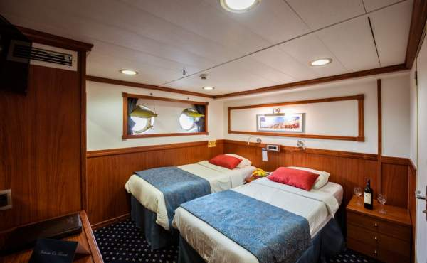 Lower deck cabin (changing bed configuration is possible)